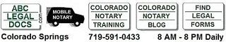 Colorado Springs Mobile Notary