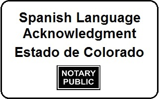 Notarize Spanish Document With Acknowledgment