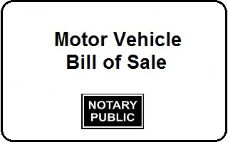 Motor Vehicle Bill Of Notary